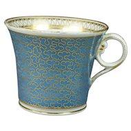 Antique Tea Cup Chamberlain Worcester Stormont Pattern Baden Shape Regency Circa 1820