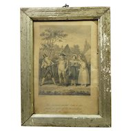 Antique Miniature Georgian Engraving Robert Cruikshank Dated 1815