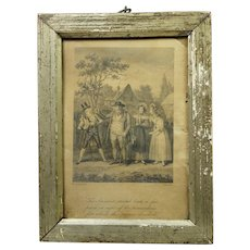 Miniature Georgian Engraving Robert Cruikshank Dated 1815