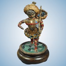 Early 19th Century Straw Doll Harlequin Georgian Commedia Dell'Arte Figure RARE Circa 1820