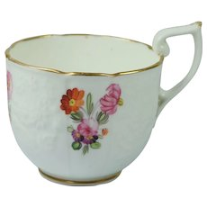 Georgian Porcelain Embossed Cup English Circa 1820 Very Pretty