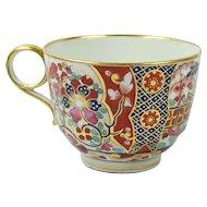 Antique Worcester Porcelain Tea Cup Barr Period Imari Ring Handle Circa 1805 AF
