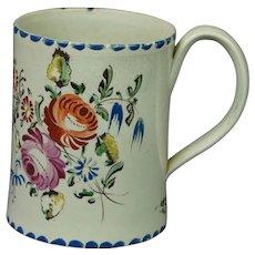 18th Century Miniature Staffordshire Creamware Cup Floral Georgian Circa 1790