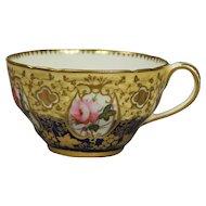 Antique Tea Cup Coalport Porcelain Flowers Circa 1820 Georgian