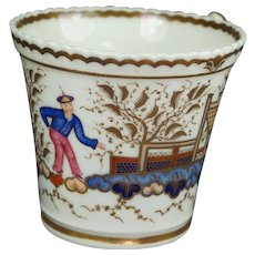 Antique Tea Cup Chamberlain Worcester Chinese Figure Pattern 767 Circa 1820 AF