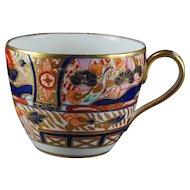 Antique Coalport Porcelain Cup Imari Decorated Bute Shape English Georgian Circa 1810