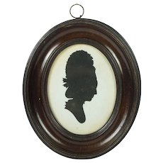 18th Century Mrs Sarah Harrington Hollow Cut Silhouette Profile Of A Lady English Circa 1780