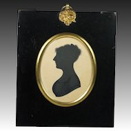 Antique Regency Silhouette of a Lady English Circa 1815 Jane Austen period