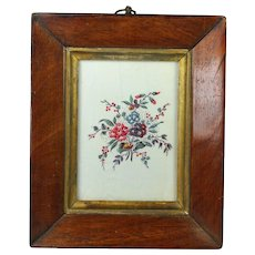 Antique Original Georgian Spring Pastels Block Printed Flower Chintz Sample Book Sample Circa 1790 18th Century