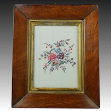 Antique Original Georgian Chintz Swatch Book Sample Block Printed Flowers Circa 1790 18th Century