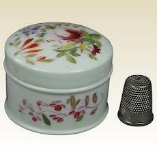 Georgian English Porcelain Rouge Patch Cosmetic Pot Circa 1830