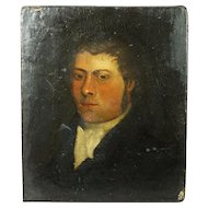 Antique English Oil Portrait Georgian Gentleman Circa 1810 Regency Era Mr Darcy