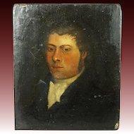 Antique English Oil Portrait Georgian Gentleman Circa 1810 Regency Era Mr Darcy