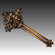 Antique Treen Rattle Toy Interlocking Puzzle Napoleonic Prisoner Of War Circa 1805 Folk Art