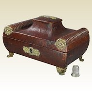 19th Century Regency Red Leather Box English Circa 1815