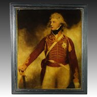 Antique Reverse Glass Print George IV Prince Of Wales Circa 1815