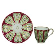 19th Century Tea Cup And Saucer Samuel Alcock English Porcelain Circa 1845