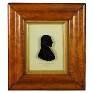 American 19th Century Silhouette On Glass Rare US Congressman Killian K Van Rensselaer
