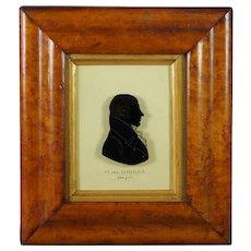 19th Century Silhouette On Glass Rare US Congressman Killian K Van Rensselaer