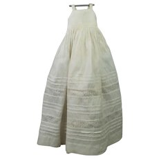 "Antique 19th Century 14"" Doll Chemise Slip Petticoat Suitable For Early Wooden Doll Milliner Type Doll"