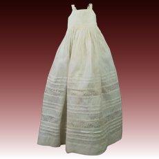 """19th Century 14"""" Doll Chemise Slip Petticoat  Wooden Grodnertal Milliner Type Doll"""