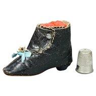 Antique French Fashion Doll Boot Salesman Sample Size 8 Circa 1880