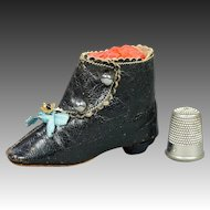 Antique French Fashion Doll Boot Salesman Sample Size 8 Circa 1880
