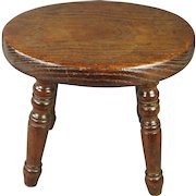 Antique Small English Country Stool Circa 1820 For Child or Doll