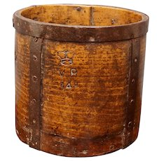 Antique English Oak Storage Box Container Half Grain Measure Victorian Circa 1840