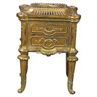 Antique French Doll Commode Cabinet Vitrine Jewelry Box Circa 1880