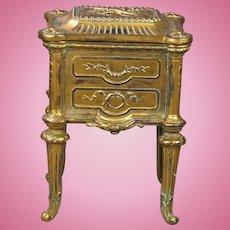 Antique French Doll Commode Cabinet Vitrine Jewelry Box Circa 1880