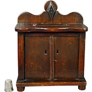 Antique Folk Art Money Box Chest Of Drawers Shape English Money Bank Makers Stamp Great Patina Circa 1860