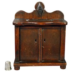19th Century Money Box English Folk Art Coin Bank Chest Of Drawers Chiffonier Makers Stamp Circa 1860 Great For Large Doll