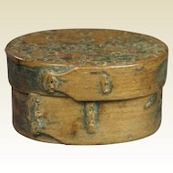 Georgian Primitive Bentwood Pantry Box Folk Ark Inscribed Circa 1810