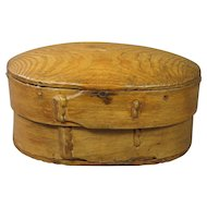 Antique Bentwood Storage Box Great Patina Early Folk Ark Circa 1810