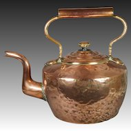 Antique Massive Copper Kettle From Scottish Estate Duke Of Buccleuch Circa 1870