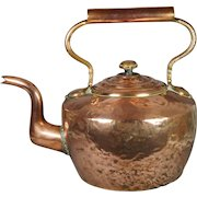 Antique HUGE Baronial Scottish Copper Kettle From Duke Of Buccleuch Estate Circa 1870