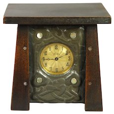 Liberty Tudric Inspired Dated 1921 Watch Hutch Pewter Art Nouveau Pocket Watch Holder Glasgow School