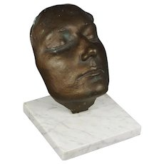 Bronze Life Mask by Paul Wager British Sculptor, Eva Chadwick Connection, 1980
