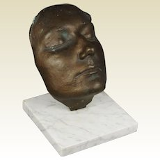 Paul Wager Bronze Life Mask British Sculptor Eva Chadwick Connection, 1980