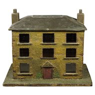 19th Century English Folk Art House Model Money Bank Box Georgian Circa 1830