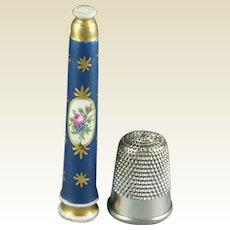 Antique Porcelain Knitting Needle Sheath Tip Guard Shield Protector Georgian Circa 1810