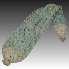Antique 18th Century Stocking Purse Knitted Long Purse Georgian Circa 1790