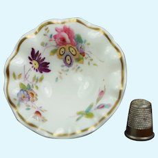 Antique 19th Century Miniature Toy Doll Fruit Bowl, Pretty English Floral Porcelain AF