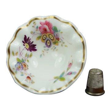 Antique 19th Century Miniature Toy Doll Fruit Bowl, Pretty English Floral Porcelain AF