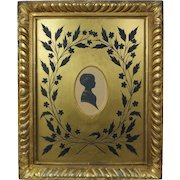 19th Century Child Cut Silhouette By Charles Samuel Herve II Exceptional Buck & Scott Gilt Frame Circa 1840