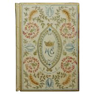 Antique Wedding Book Lord and Lady Exeter, Burghley House, England, Provenance Cecil, Orde-Powlett Family