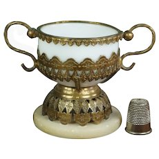 Antique French Miniature Palais Royal Trinket Dish Chalice Circa 1840