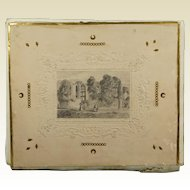 Antique Folio Album Pencil Drawing Covers Isle of White Note Paper Contents Circa 1840s