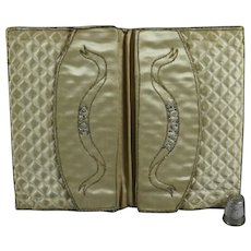 Antique Georgian 18th Century French Silk Pocketbook Letter Case Wallet Purse Pocket Case Museum Quality Circa 1770